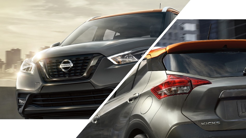 Nissan Kicks With distinctive colour options and a two-tone roof